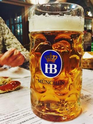 A Höfbrau Original Beer
