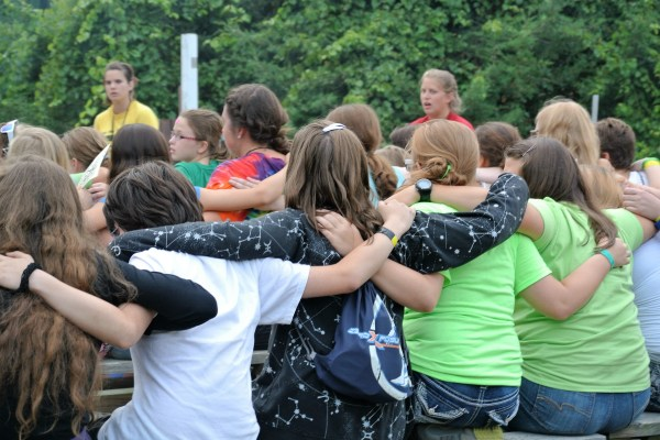 FAME Campers Sing Around The Campfire