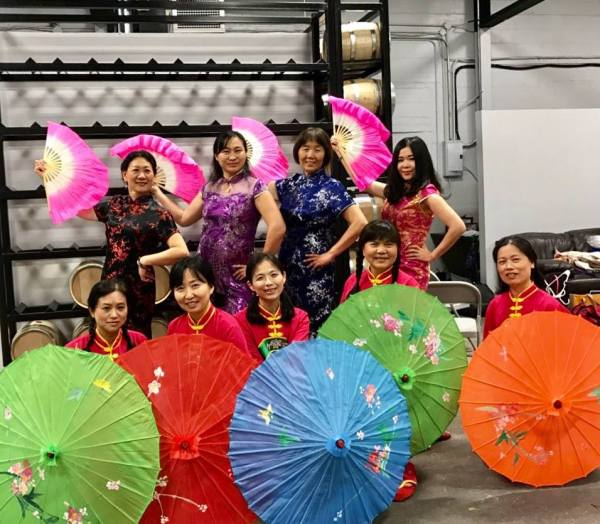 Fort Wayne Chinese Family & Friends Association Pose At Three Rivers Distilling