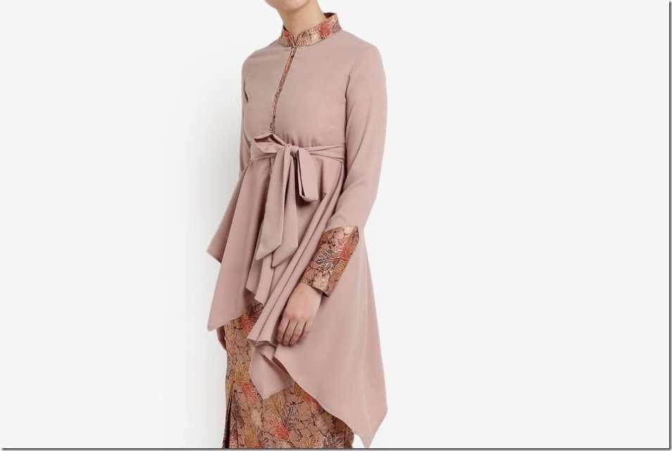 Fashionista NOW: Baju Raya Style Idea ~ Batik-Inspired Kurung With Mandarin Collar