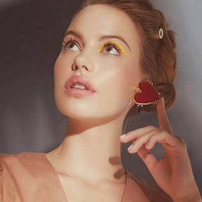 Hot Earring Trend Spotted: Statement Red Heart Earrings