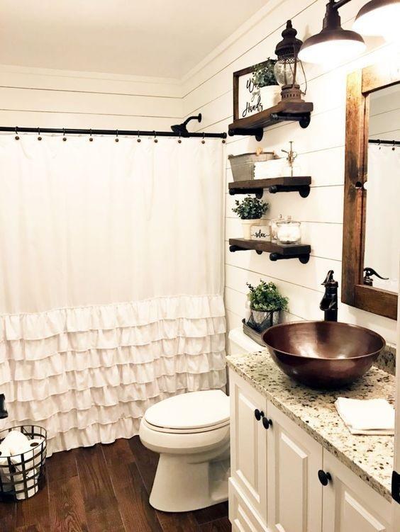 Farmhouse Bathroom Ideas: The Natural Country Look ... on Rural Bathroom  id=75637