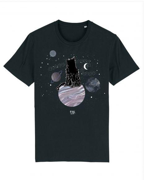 COSMIC CAT Unisex T-Shirt – Black