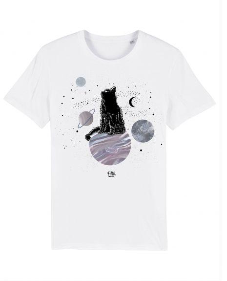 COSMIC CAT Unisex T-Shirt – White