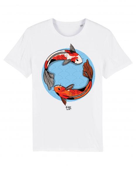KOI FISH Unisex T-Shirt – White