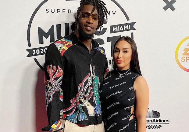 DeMarcus Lawrence with wife Sasha Lawrence