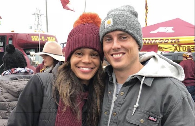 Michelle Young with former boyfriend Aaron in 2018