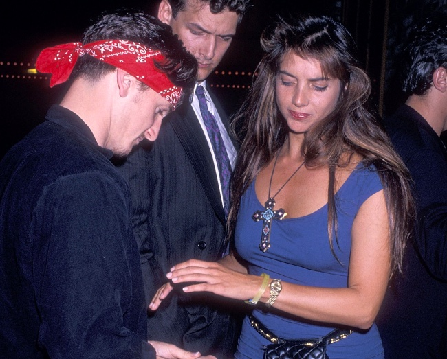 Nicolette Scorsese with Sean Penn (Left) in 1989