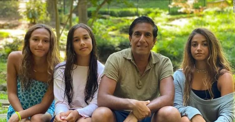 Rebecca Olson Gupta's husband Sanjay Gupta and daughters