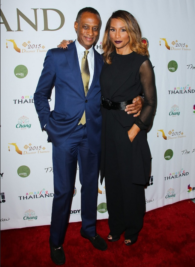 Brian Maillian with wife Beverly Johnson