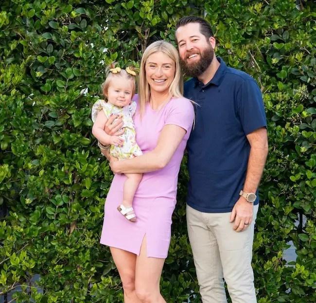 Jasmine Roth, husband Brett Roth, and daughter Hazel Roth