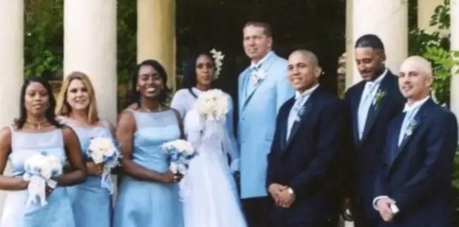 Gary Owen and wife Kenya Duke's 2003 wedding