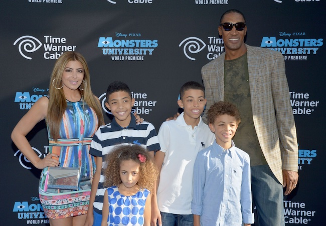 Larsa Pippen with ex-husband Scottie Pippen and kids