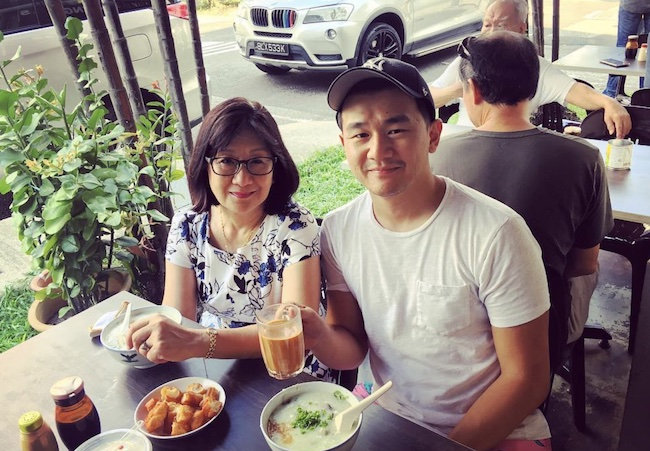 Ronny Chieng with his mother