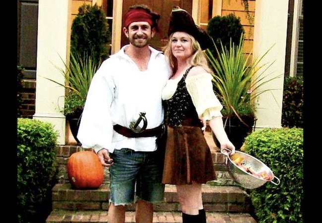 Aaron Marino and his wife Tracey Woodard Marino in 2013 Haloween