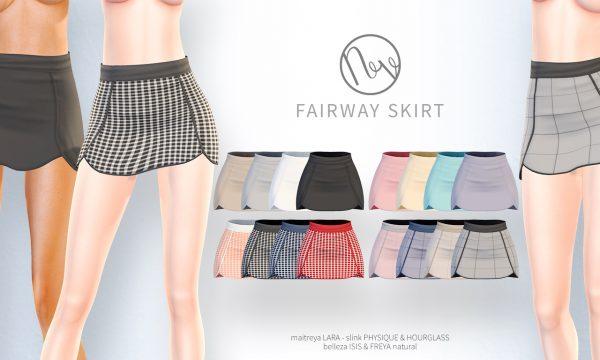 Fairway Skirt. ★ L$200 per color / Fatpack is L$600.