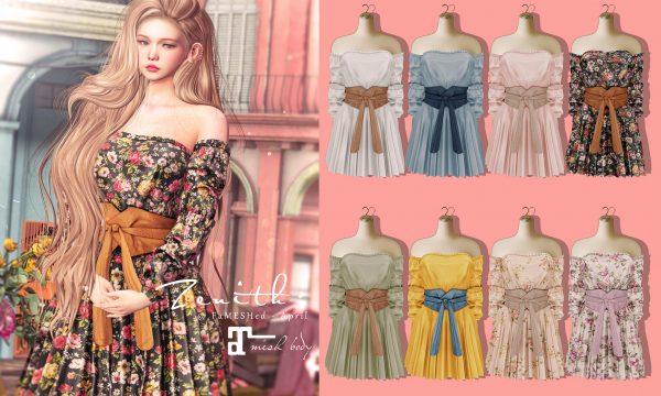 Off Shoulder Spring Dress.  L$300 each.