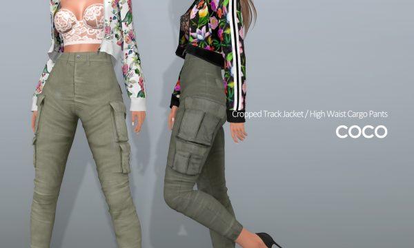 Cropped Track Jacket & High Waist Cargo Pants. Jacket is L$225 each / Pants is L$250 each. Jackets Fatpack is L$1,299 / Pants Fatpack is L$999. ★ 🎁
