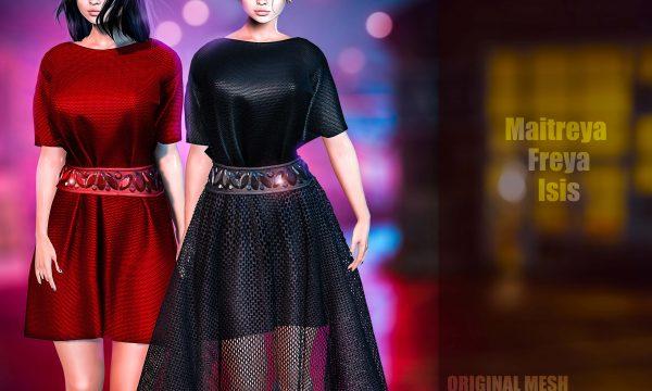 Gul Dress. Plain or Shimmer L$250 each / Fatpack Plain or Shimmer is L$1,300 each. ★