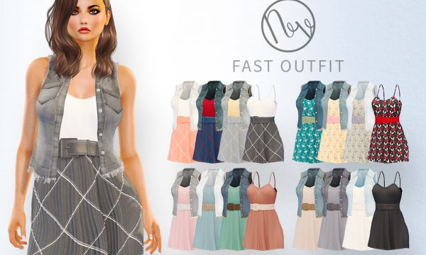 Fast Outfit. Mini Packs are L$250 each / Fatpack is L$750. ★ 🎁