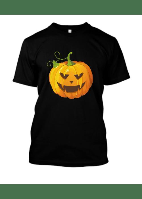 Halloween pumpkin black T shirt 2019