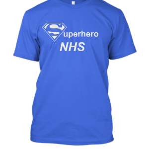 NHS superhero in Blue