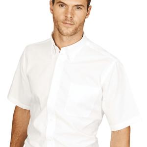 Mens Oxford Shirt Short Sleeved