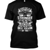 Be Strong Gym Motivation Black Tee PSD