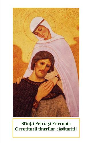 Iconițe cu ocazia Sfinților Petru și Fevronia, ocrotitori ai familiei