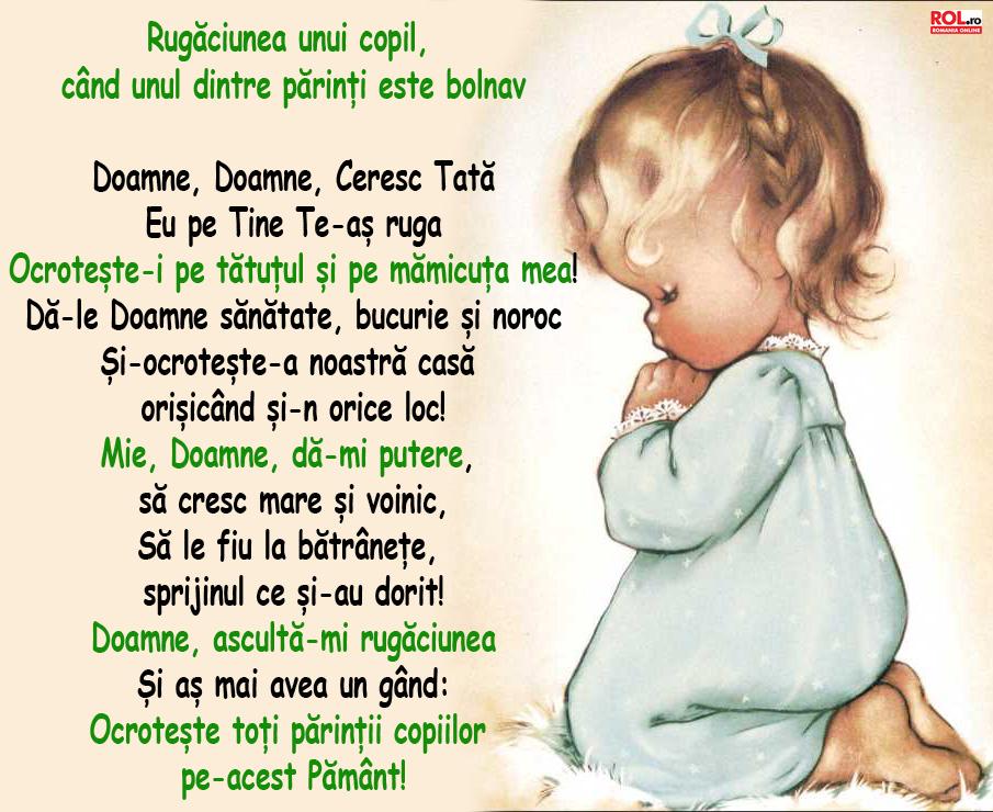 Rugăciunea copiilor pentru părinți