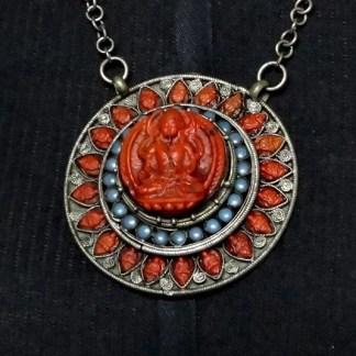 Mágico Pingente e anel, prata de lei, deus Shiva, Feito No Nepal