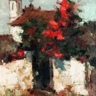 Romeu Caiani, Igreja, pintura a óleo