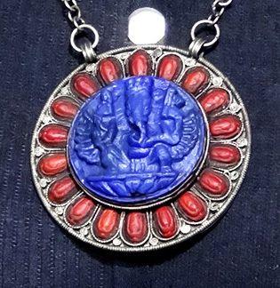 Mágico Pingente em prata de Lei, Ganesha, Feito No Nepal, Everest