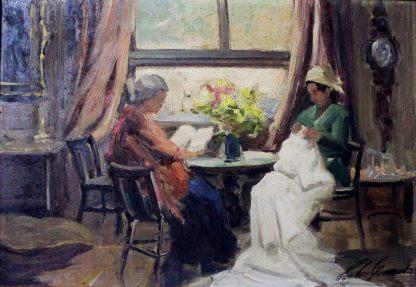 Carlos Gomes, Prosa, pintura a óleo