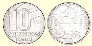 Moeda de 10 Cruzeiros, Plano Collor, 1990-93