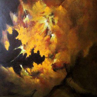 Motoyama, Despertar da Natureza, pintura a óleo abstrata