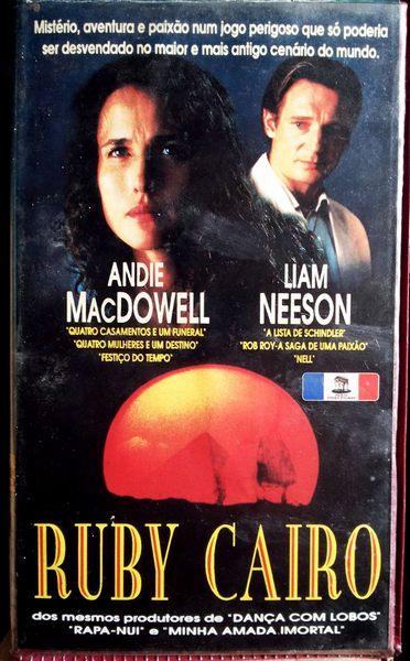 Ruby Cairo, VHS original, Andie MacDowell, Liam Neeson