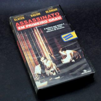 Assassinato em Primeiro Grau, VHS original, Christian Slater, Kevin Bacon, Gary Oldman