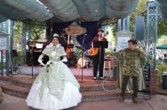 Tiana cantando ao vivo