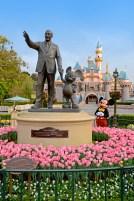 Mickey e o seu criador (Photo-pass Disney)