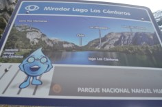 Placa do mirador do lago