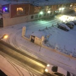 Vista da janela do hotel