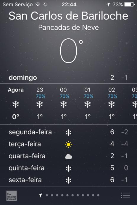 Previsão de neve todos os dias