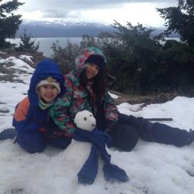 Último boneco de neve da temporada. Cerro Otto, primeira semana de Agosto