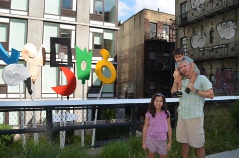 Esculturas ao longo da High Line