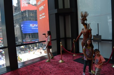 The Lion King com vista para a Times Square