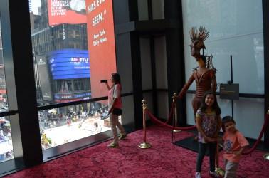 The Lion King com vista para a Times Square