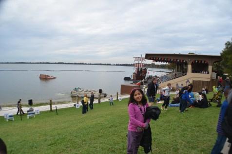 Área dos shows aquáticos