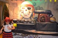 Buffet na festa dos piratas