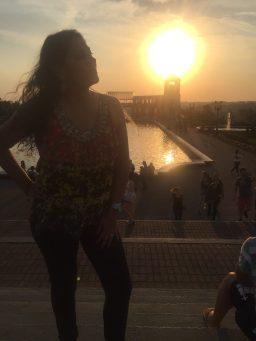 Pôr do sol no Parque Tanguá
